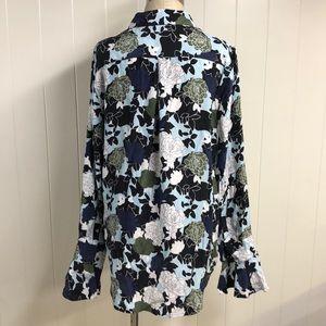 Equipment Tops - Equipment Femme Floral Silk Blouse